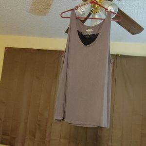 Torrid Grey With Black Lace Inset Tee Size 3